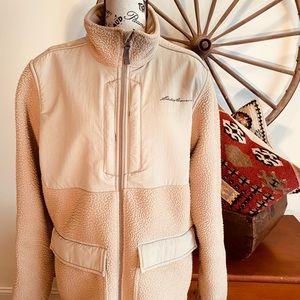 Eddie Bauer Radiator Fleece Tan Jacket Size Medium
